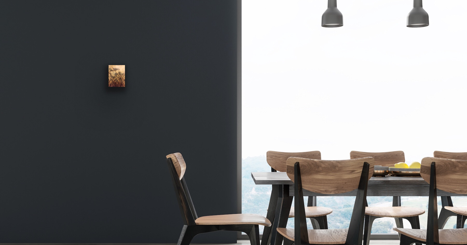 Dark Dinning Room Wall