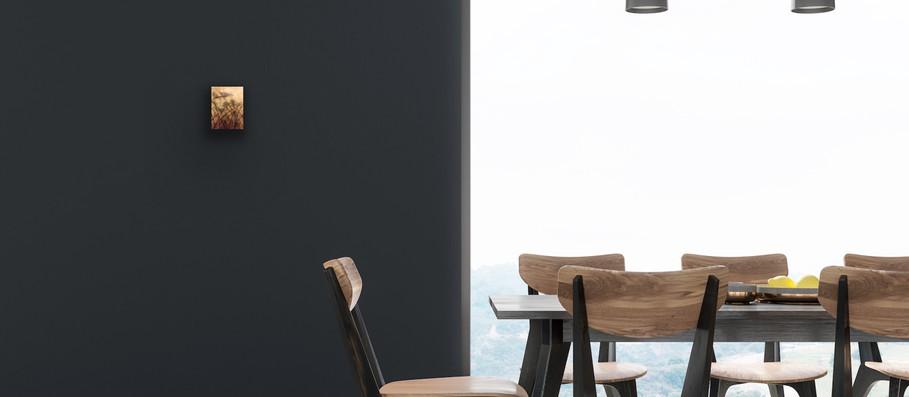 Dark Dinning Room Wall