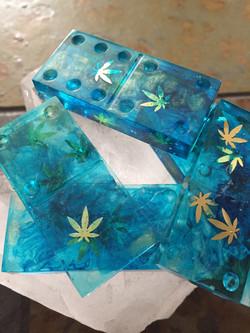 Transparent Cannabis Leaf set