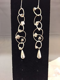Vine & Tear Drop Earrings