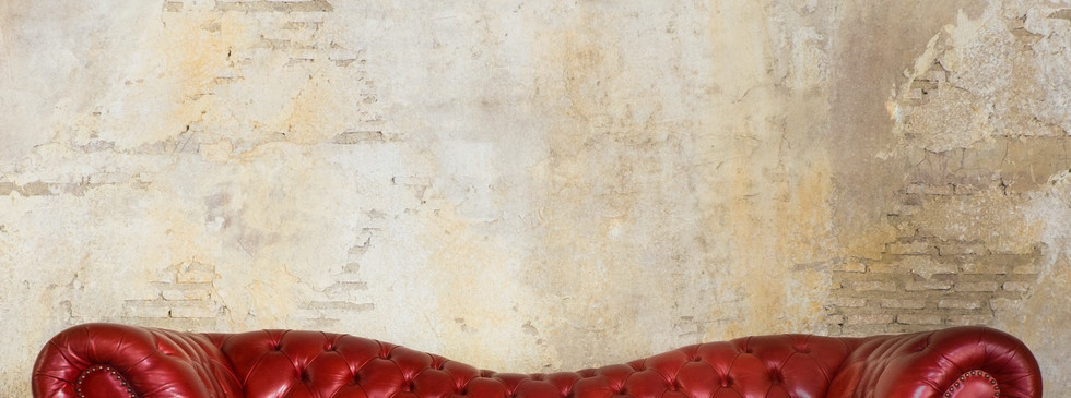 Plaster Red Couch Wall