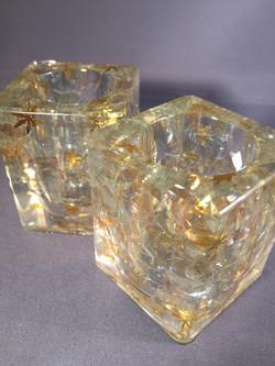 Smokey Glass in Clear Resin