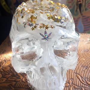 Clear White Swirl PAKA MoonStar Skull