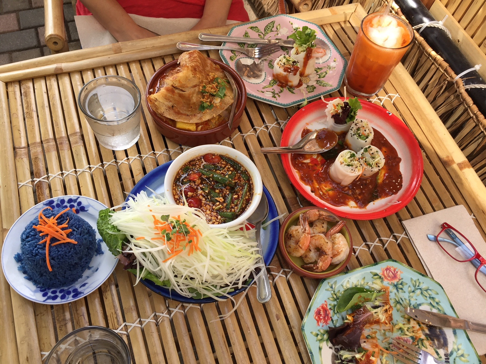 Food at the Farmhouse Thai Restaurant