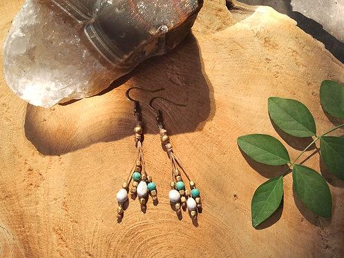 Earrings Rhythm Turquoise * Short *