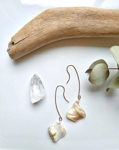 Manta Long Drop Earrings