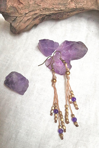 Boho Earrings Amethyst