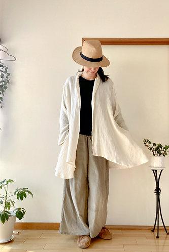 Gauze Cotton Drape Cardigan