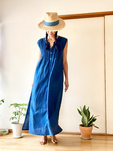 Cotton Dress in Indigo