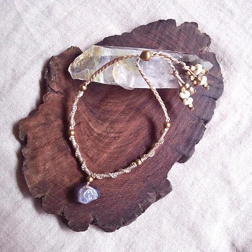 Bracelet Amethyst Drop