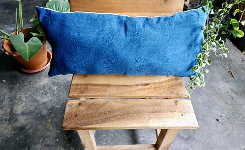 Cotton Indigo Long Pillow Cover