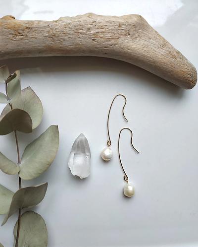 Mizore Long Drop Earrings