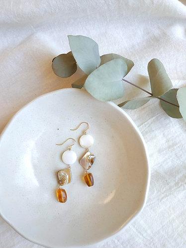 Shells & Amber Drop Earrings