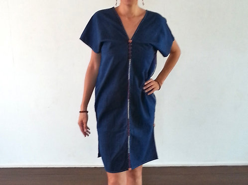 Indigo Lahu Tribal Tunic
