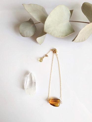 Amber & Peridot Bracelet