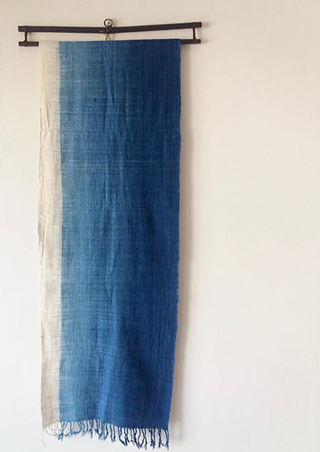Handwoven Cotton Gradient Indigo Scarf