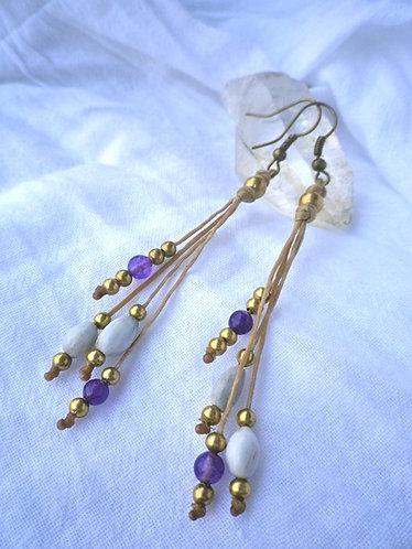 Earrings Rhythm Violet
