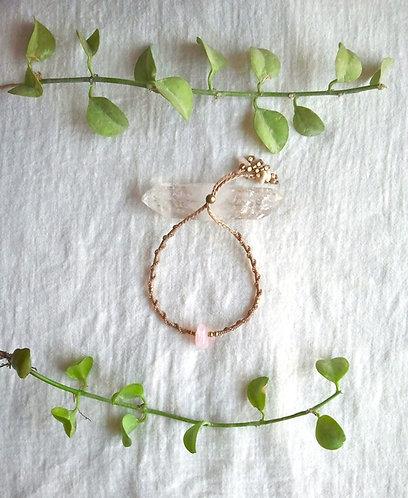 Bracelet Rose Quartz Spring ✴