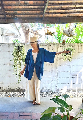 Kimono Cardigan Zen in Indigo