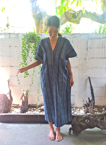 Indigo Batik Kaftan