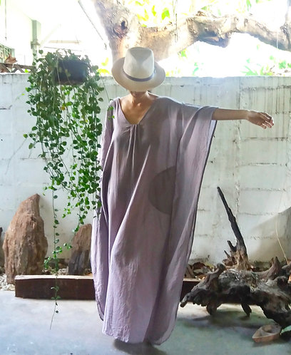 Beach Kaftan Long Dress Lavender
