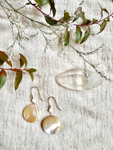 Moon phase & River stone Earrings