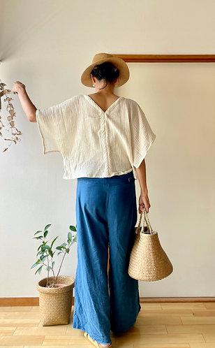 Gauze Cotton Kimono Blouse