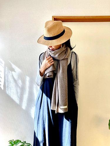 Pure Cashmere Knit Stole / S size