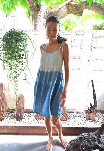 Indigo Ombre Sun Dress