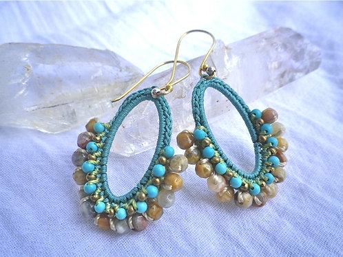 Earrings Turquoise & Jasper
