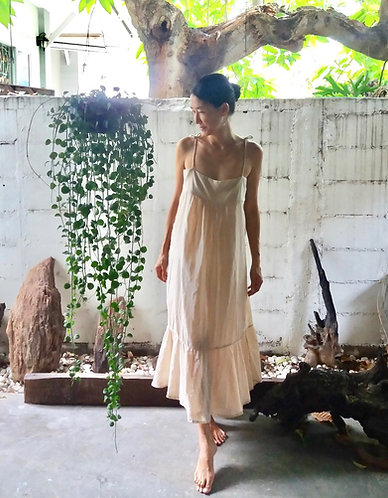 Cotton Strap Dress * Lily * Nude Pink
