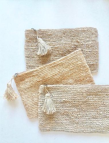 Hemp Crochet Clutch Bag