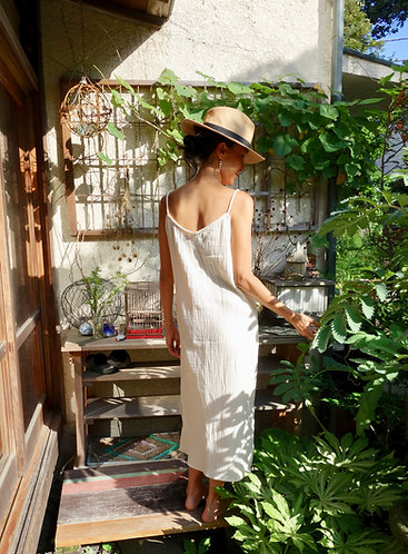 Gauze Cotton Slip Dress