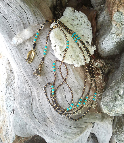 Necklace Turquoise Buddha