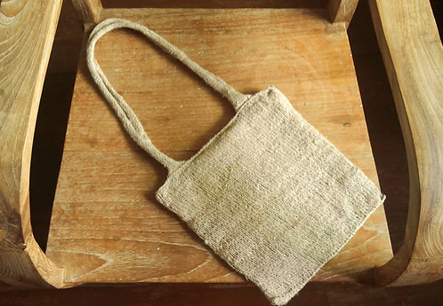 Hemp Hand Knit Bag *Small*