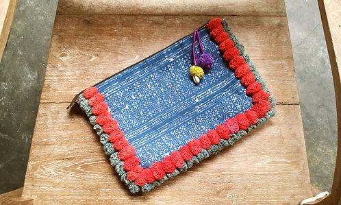 Hmong Tribal Pom Pom Clutch