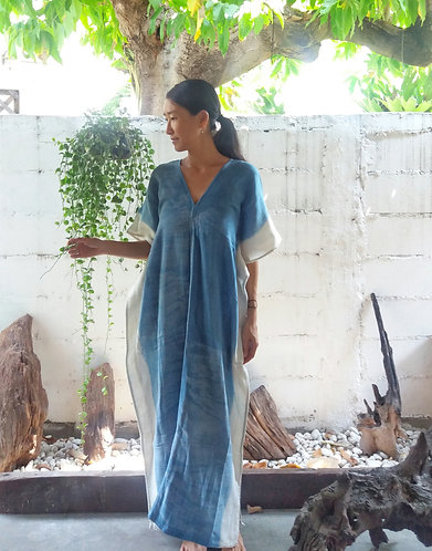 Indigo Drop Kaftan Dress * River *