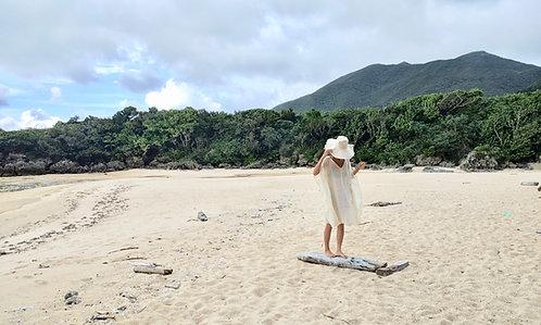 Beach Cover Up Kaftan Cream