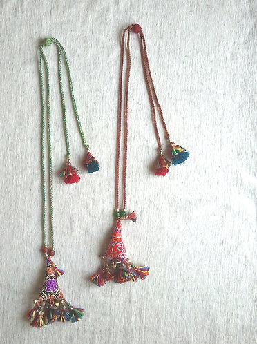 Hmong Pillow Cotton Tassel Necklace