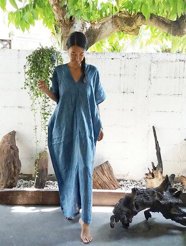 Indigo Kaftan Dress