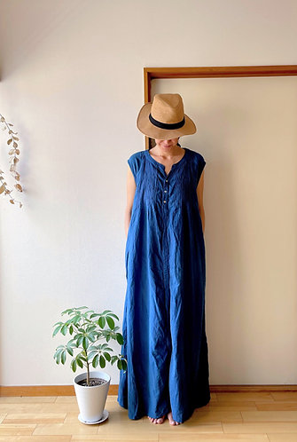 Shizuku Dress in Indigo