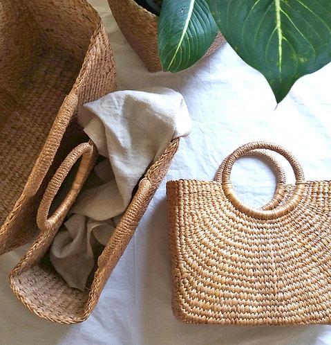 Water Grass Summer Basket *-Square*