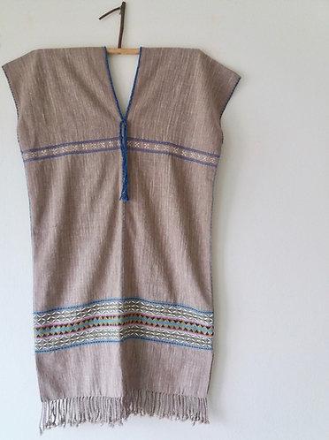 Karen Handwoven Textile Poncho * Lotus *