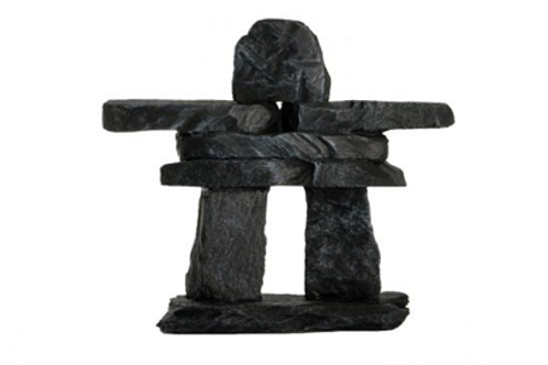 Recycled Glass Inukshuk - 5.25""