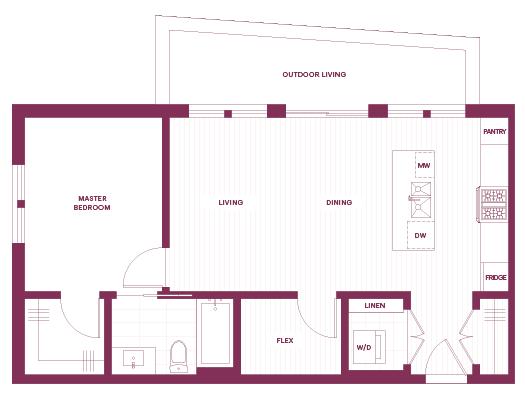 1-bedroom K plan
