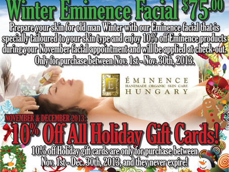 Holiday Specials for 2013!
