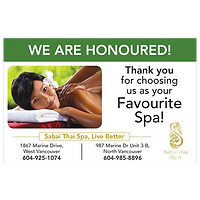 Thank you for choosing us as your Favourite Spa!
