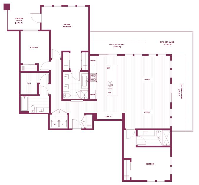 3-bedroom & den M plan