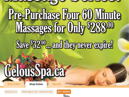 Massage Series Packages – Book 4 and save!