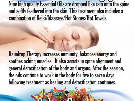 AUGUST SPECIAL! Raindrop Therapy Massage!